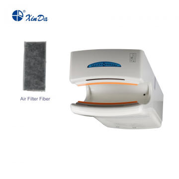 CPU-controlled hand dryer with disinfection function